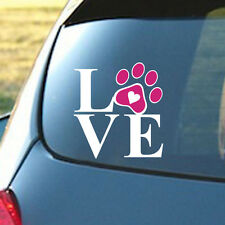 LOVE PAW Sticker Family Car Window Wall PVC Decal Animal Pet Dog Cat Art Lovely