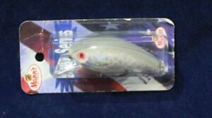 MANN'S BABY X DISCONTINUED FISHING LURE SIDE STAMPED MANN'S GRAY GHOST ~ RATTLE