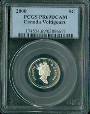 2000 CANADA VOLTIGEURS 5 SILVER CENTS PCGS PR69 SPOTTED 03896812 *