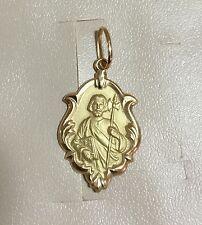 18k Gold  St Jude Medal Medium, 1.5 grams, Catholic
