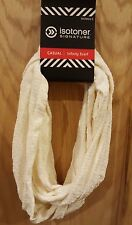 Isotoner Ivory Chenille Textured Infinity Scarf - MSRP $36