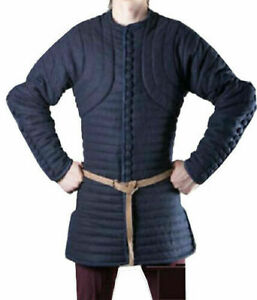 Thick Blue Color Gambeson Medieval Padded Armor Reenactment Larp