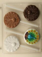 PEACOCK LOLLIPOP CLEAR PLASTIC CHOCOLATE CANDY MOLD AO176