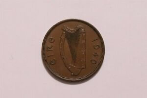 IRELAND PENNY 1940 KEY DATE SHARP DETAILS B35 #5480