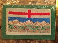 New Vintage Alberta Flag Self Adhesive Sew On Patch Badge Sealed AB Canada NOS