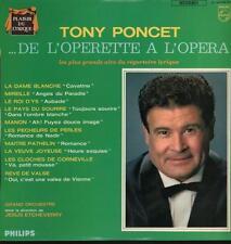 Tony Poncet(Vinyl LP)De L'Operette A L'Opera-Philips-837 488 GY-France-VG/Ex