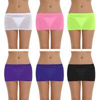 Women Sheer Mini Skirt Party Nightwear Clubwear Sexy Lingerie Micro Short Skirts