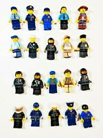 Lego Police SWAT Officer w/ Gun Accessory Random Town City Minifigures Lot of 5