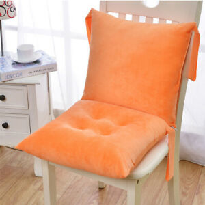 High Back Chair Cushion Seat Pad Removable Cover Patio Garden Outdoor Backrest