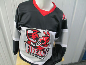 VINTAGE OT SPORTS FAYETTEVILLE FIREANTS SEWN SMALL RED BLACK JERSEY NWT 2002-17