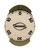 MIRRO Mid-Century Avocado Green VTG Kitchen 60 Minute Timer