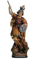 Estatua De San Giorgio CM 17 Tallada en Madera De en Val Gardena Adornada a Mano