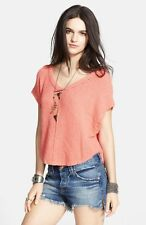 Free People 'Summer Romance' Oversized Short Sleeve Sweater Size Small