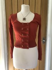 BNWT Terracotta Double breasted jersey Cardigan by Atmosphere (Primark) UK 10