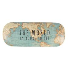 Vintage Map Glasses Shades Spectacles Case Holder by Sass & Belle