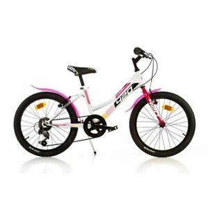 bicicletta bambina bici per bimba 20''  con cambio eta' 6,7,8,9 anni Dino bikes