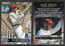 FUTERA 1996 WORLD CUP CRICKET ALLAN BORDER Queensland Bulls Card No 75.
