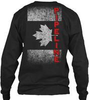 Canadian Pipeline Flag - Gildan Long Sleeve Tee T-Shirt