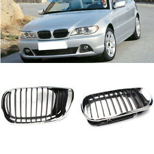 Front Chrome Grille Grill Overlay For BMW 3Series E46/316i/318i/320I/325I 01-06