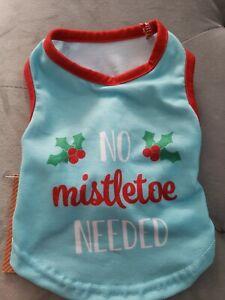 NEW No Mistletoe Needed Christmas Pet Dog Puppy Pajama shirt (xS) so cute!