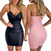 Bandage Mini Womens Cocktail Club Bodycon Party Short Dress Evening Sleeveless