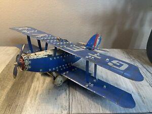 C1930's Meccano Aeroplane Constructor - Original - Complete Model