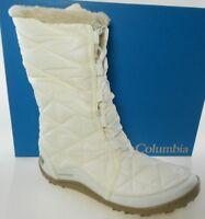 COLUMBIA POWDER SUMMIT II MID WOMEN'S IVORY WATERPROOF WINTER BOOTS, YL5386-125