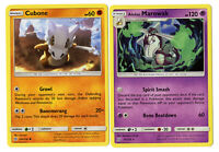 Pokemon Evolution Card Set Alolan Marowak 75/236 - Unified Minds - 2 Card Lot