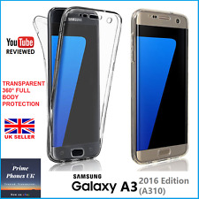 Samsung Galaxy A3 2016 – 360° FULL PROTECTION CLEAR THIN Gel Silicone Case Cover