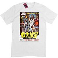 STAR WARS - A NEW HOPE - RARE JAPANESE MOVIE POSTER MENS T SHIRT S - 5XL