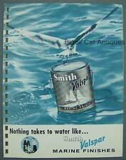Original Vintage Smith Valspar Marine Finish Paint Sample Brochure w/Price List