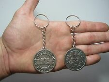Guns and Roses Keychain Keyring Key doble sided Pendant Pewter Silver 011