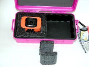 Pink Pelican 1060 waterproof hard case fits GoPro Hero 10 9 8 7 6 5 4 Session