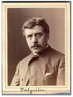 Le peintre Alexandre Falguière Vintage albumen print. Alexandre Falguière, né