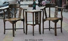 Old Chinese Huanghuali Wood Carved Royal Furniture chair Tea table desk