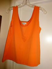 ANDRE OLIVER Orange Tank Top Camisole Cami Size XL X-Large Nylon Spandex