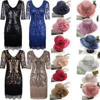 1920s Flapper Dress Beaded Great Gatsby Theme Party Formal Wedding Cocktail 2-20