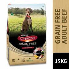 15kg Bag Purina Supercoat Adult Dog Biscuits Grain Free Real Beef Smartblend