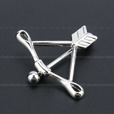 Silver Piercing Bow Arrow Body Jewelry Nipple Bar Ring SHIELD Surgical Steel