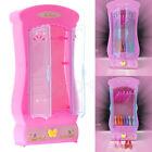 Pink Closet Wardrobe for Barbie Princess Doll House Bedroom Furniture Miniature