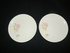 Set of 2 Vintage Franciscan Whitestone Ware Pink a Dilly Bread & Butter Plates