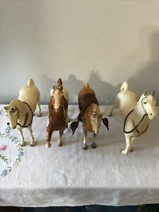 Large Lot Vintage  Breyer Plastic  Horses, 50's-60's