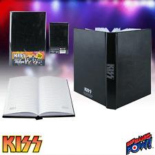 "KISS ""LIGHT UP JOURNAL"" Notebook KISS LOGO LIGHTS UP NEW IN PACKAGE"