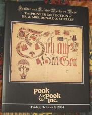 Donald Shelley Pennsylvania German Folk Art Fraktur,Watercolor Auction Catalog