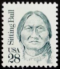 1989 28c Sitting Bull, Teton Dakota Indian Chief Scott 2183 Mint F/VF NH