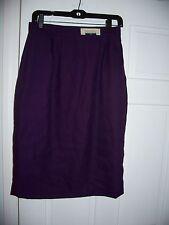 NWT  Karen Scott Skirt Size 10 Purple  Fall & Winter Knee Length