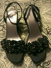 FIONI PLATFORM Ankle Strap Black sz 8M  3 inch and up  platform