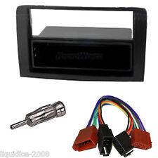 Fiat Idea a partir de 2003 Negro Single DIN Panel Facia Accesorio Adaptador Paquete Kit