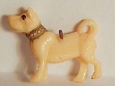 Vintage Celluloid Dog Akita Basenji Malamute Charm Curled Tail Japan