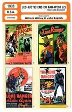 FICHE CINEMA : LES JUSTICIERS DU FAR WEST (B) - King,Horse 1938 The Lone Ranger